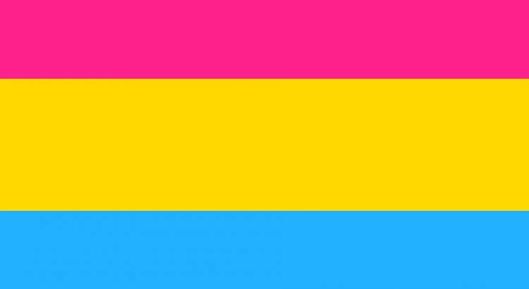 Flagge für Pansexualität